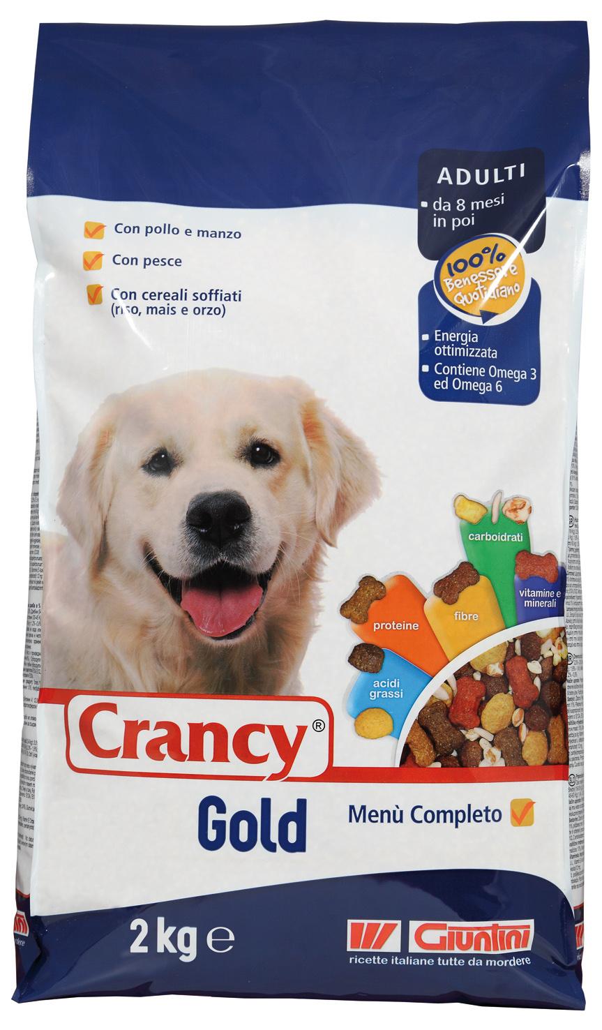 cibo giuntini cani i - crancy gold 2 kg/6 pz - 15.81